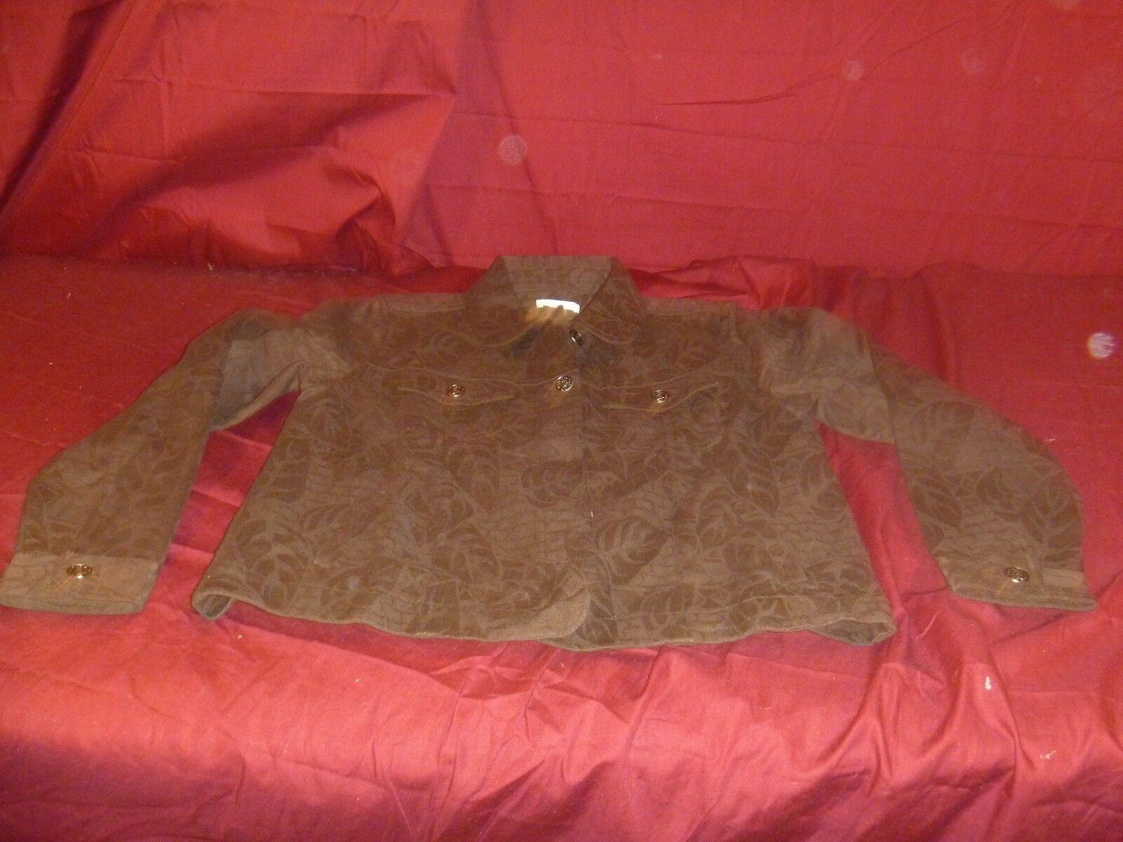 Christopher de mujeres y amp;Banks marrón chaqueta ligera tamaño medio lindo!RB 11822