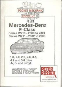 mercedes e class w210 240 280 320 e240 e280 e320 petrol owners rh ebay co uk mercedes w211 service manual free download mercedes w211 service manual download