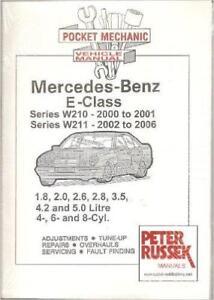 mercedes e class w210 240 280 320 e240 e280 e320 petrol owners rh ebay co uk 2006 mercedes benz b class owners manual pdf 2006 mercedes e class owners manual pdf