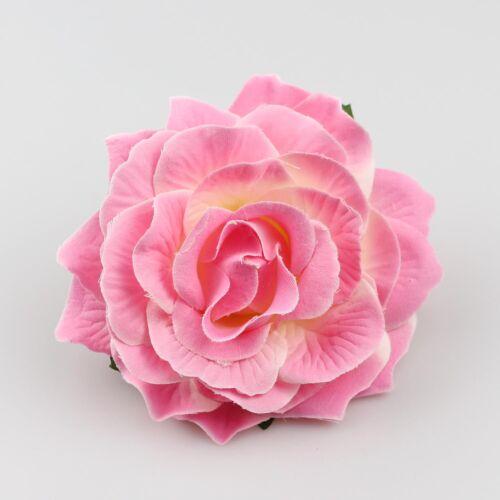 12cm Silk Rose Flower Head Artificial Rose DIY Wedding Home Decor Supply NEW