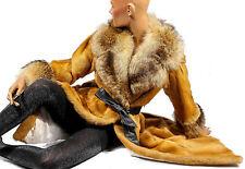 S M Vintage Pelzmantel WIESEL Weasel fur coat Raccoon Waschbär Pelz Mantel Piel