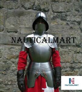 Details about Medieval Knight Half Suit of Armor Breastplate with Helmet  Armor Reproduction