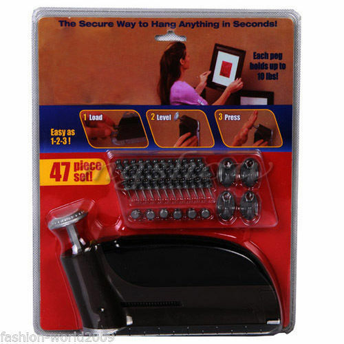 InstaHang Picture Hanging Tool 47pc set As Seen On TV 10lb Insta Hang Wall Hook