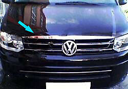 Chrome-1Pc-Front-Bonnet-Pinch-Piece-Cover-To-Fit-Volkswagen-T5-Transporter2010up
