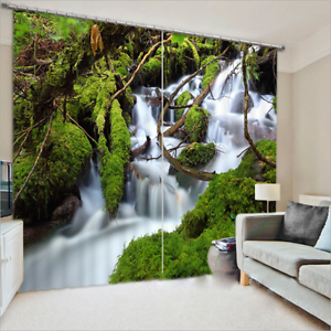 Photo Printing Curtains 3D Window Mural Natural Water Blockout Draps Fabric 101