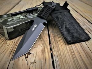 """7"""" TACTICAL COMBAT SURVIVOR BOOT TANTO HUNTING KNIFE Bowie Military Fixed Blade"""