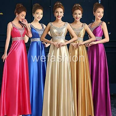 Women Wedding Evening Party Formal Ball Prom Gown Bridesmaids Bridal Long Dress