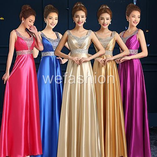 Women Wedding Evening Party Formal Ball Prom Gown Bridesmaids Bridal Long Dress