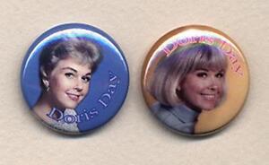 Doris-Day-Badge-Button-Pin-Pair-Retro-COOL
