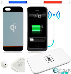 coque chargeur batterie sans fil etui housse case qi iphone 6 6s 5 5s pad cable ebay. Black Bedroom Furniture Sets. Home Design Ideas