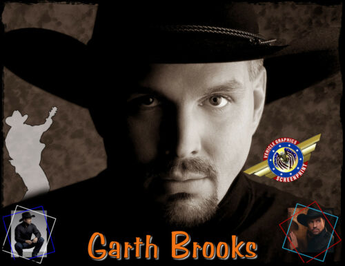 """Garth Brooks /""""Country Music/"""" Personalized T-shirts"""
