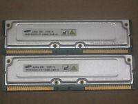 1GB 2 x 512MB Samsung RDRAM Rambus Rimm PC1066-32 1066-32P 4 Dell 8250 8200 8100