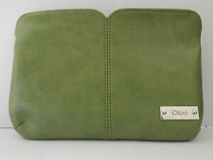 BRAND-NEW-CHLOE-SMALL-GREEN-CLUCTH-BAG-PURSE-MAKEUP-BAG-BOXED