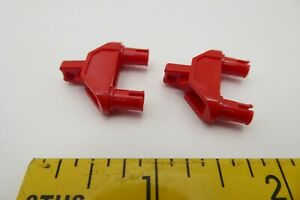 2x Lego x277 Hinge 1 x 4 Triangle with Two Pins Locking 1 Finger Black