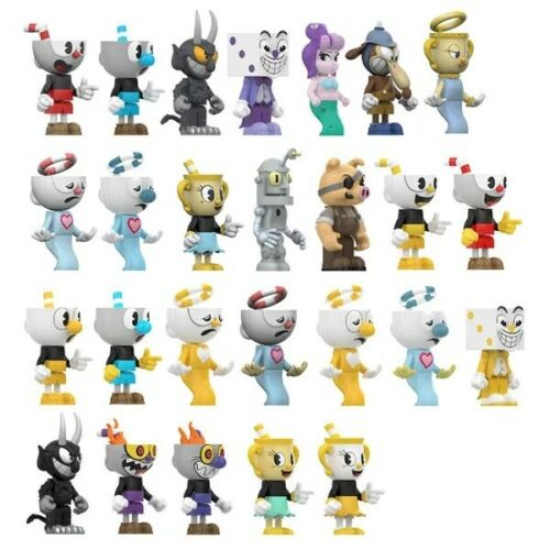 différentes figurines disponibles Mc Farlane Cuphead figurine constructible