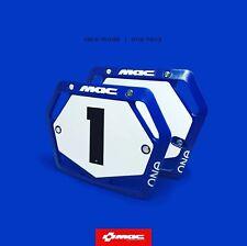 Vintage Aero BMX Startnummernhalter NEU NOS Retro Number Plate blau NOS