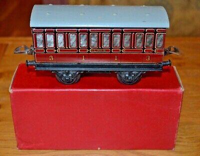 Vintage Boxed Hornby Series Meccano O Gauge R155 No.1 Passenger Coach Facile Da Riparare