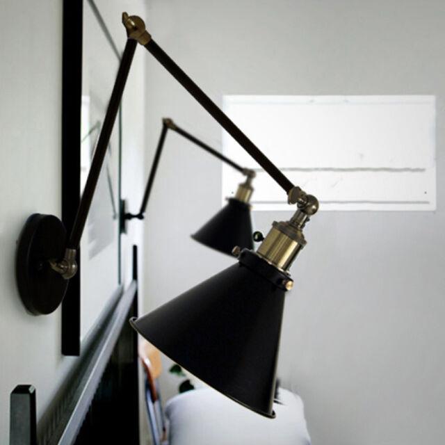 Adjustable Modern Vintage Cafe Bar Loft Wall Light Shade Edison Lamp Fixture
