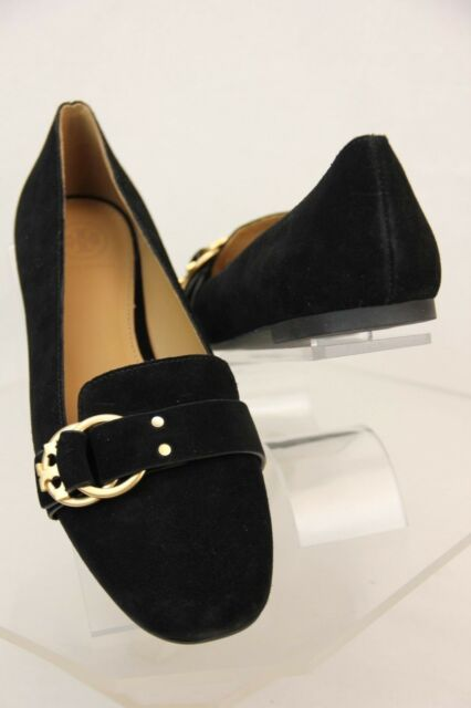 8eb0342b0 Tory Burch Marsden Black Suede Gold Tone Belted Reva Smoking ...