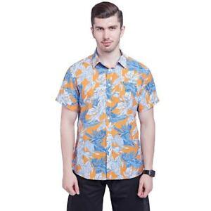 New-mens-hawaiian-shirt-floral-printed-summer-short-sleeve-casual-shirt-top