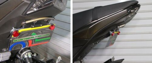 Kawasaki Z125 Pro SS Fender Eliminator Kit w// Run//Brake//Turn Signal Light Bar; C