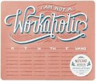 I Am Not a Workaholic Notepad and Mouse Pad 54 Sheets 6 Designs by Hom Lau