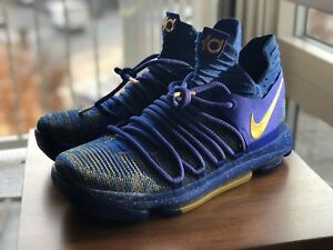 low priced 0efae a11b6 Image is loading NIKE-ZOOM-KD-X-10-CELEBRATION-FINALS-MVP-