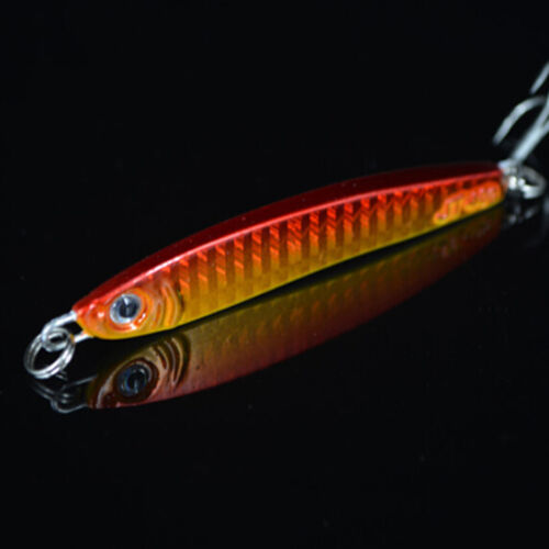 30g Metal Jigging Spoon Bait Sea Fishing Fishing Lead Fish Lures Iron 3 Hook UV!