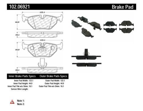 Centric 102.06921 Rear Semi Metallic Brake Pads 12 Month 12,000 Mile Warranty