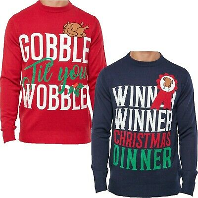 Details about  /Men/'s Christmas Novelty Jumper London Skyline Crew Neck Knitted Xmas Sweater New
