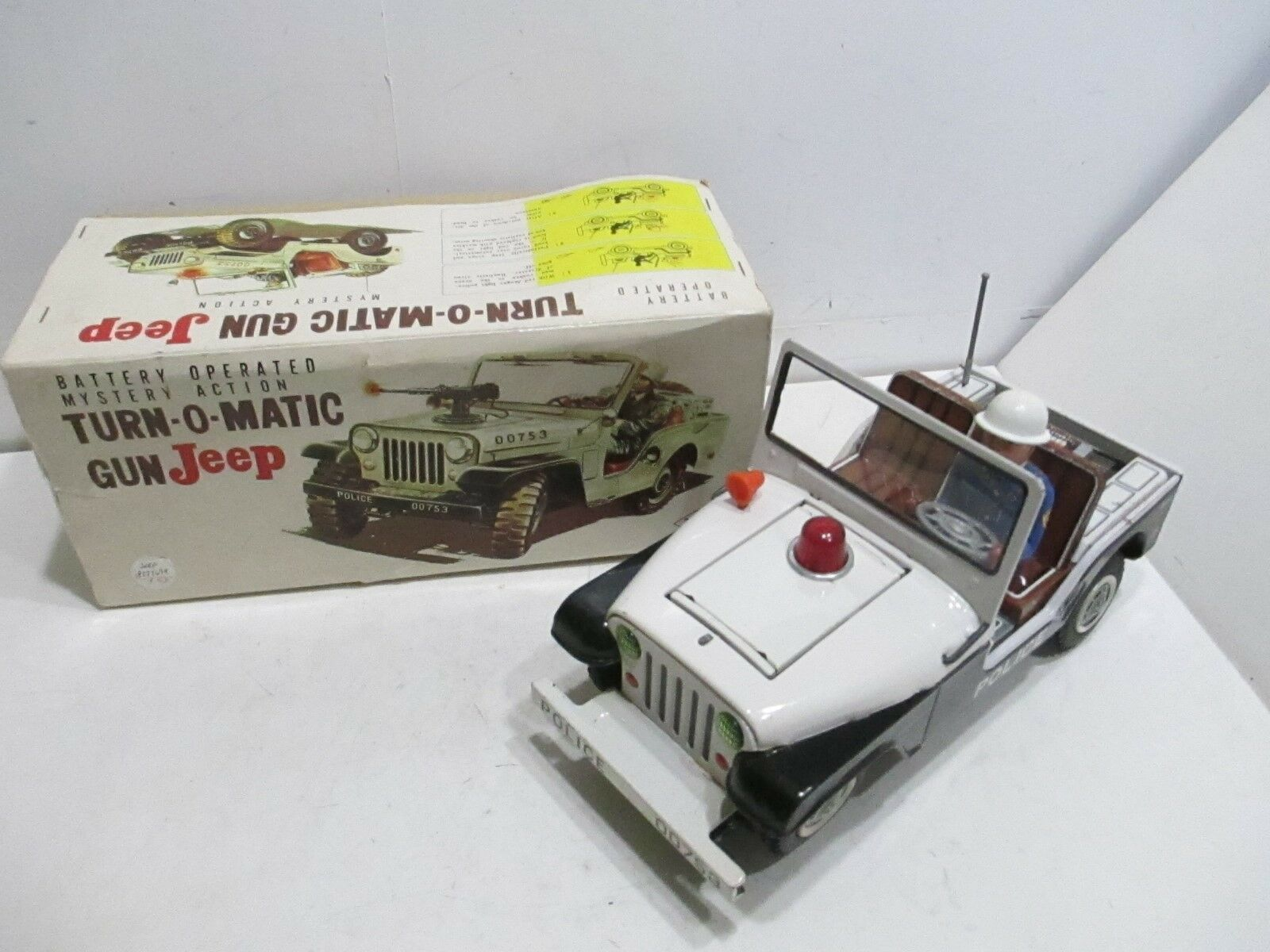 JEEP TURN-O-MATIC BATTERY OP EXCELLENTIN BOX MADE IN JAPAN WORKS