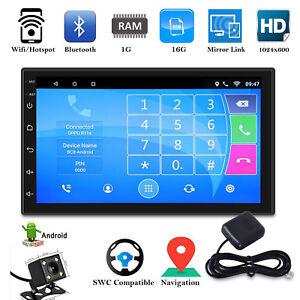 2-Din-7-039-039-Car-Autoradio-Android-8-0-Navigatore-GPS-Bluetooth-WIFI-USB-FM-Mirror