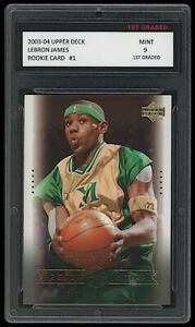 LEBRON JAMES 2003-04 UPPER DECK #1 1ST GRADED 9 ROOKIE CARD RC CAVALIERS/LAKERS