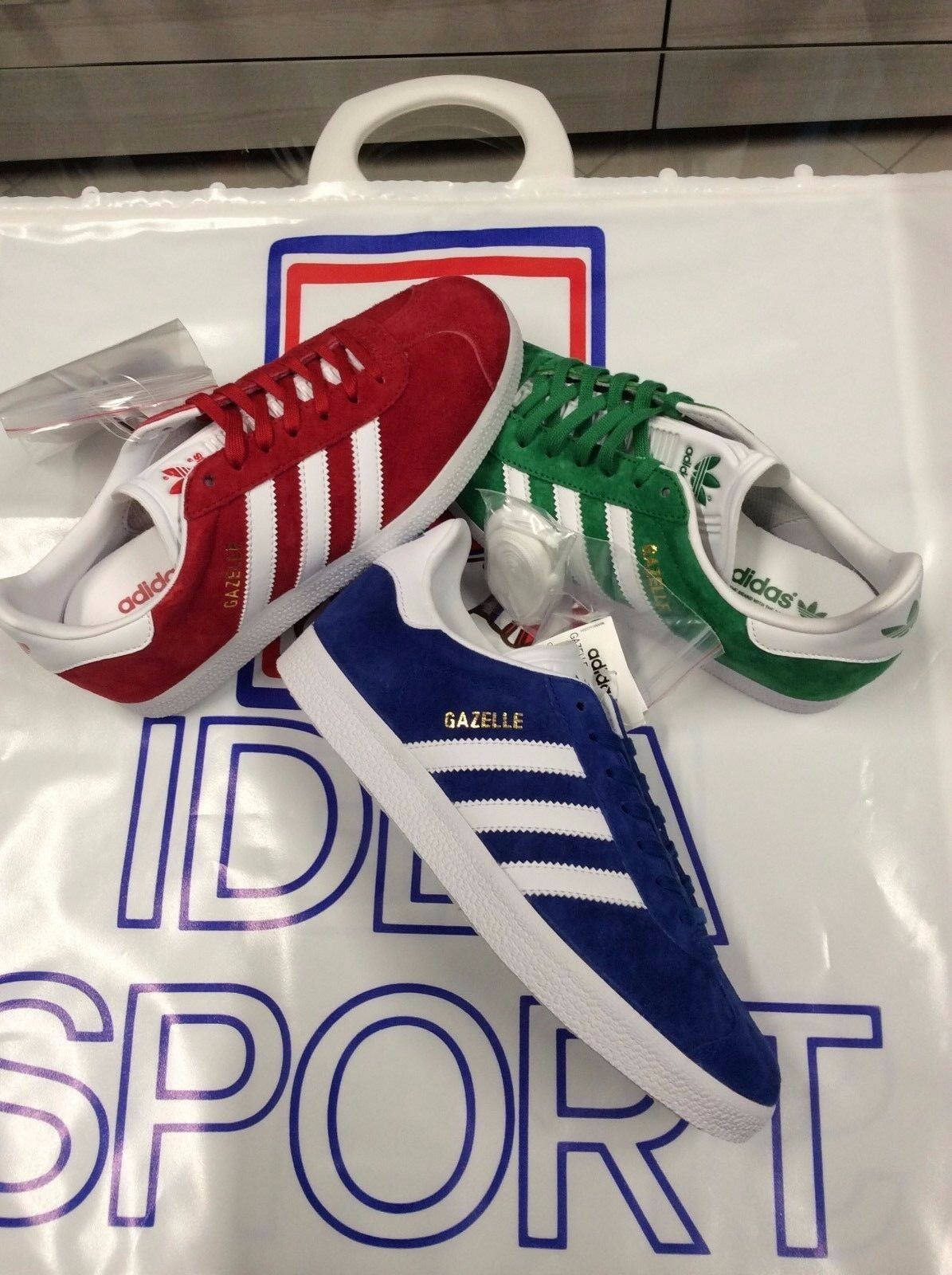 ADIDAS CHAUSSURE GAZELLE - S76228(red) -BB5477(green) -S76227(ROYAL) -BB5480(GRIG