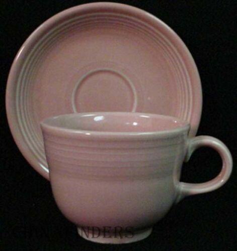 HOMER LAUGHLIN china FIESTA contemporary ROSE Cup /& Saucer Set