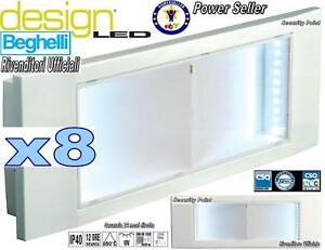 Lampade Emergenza Led Beghelli.8 Lampade Emergenza Led Beghelli Elegante Arredo Design Filo Muro