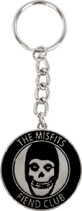 56043 Misfits Fiend Club METAL Keychain Keyring Gift Music Band Punk Rock Skull