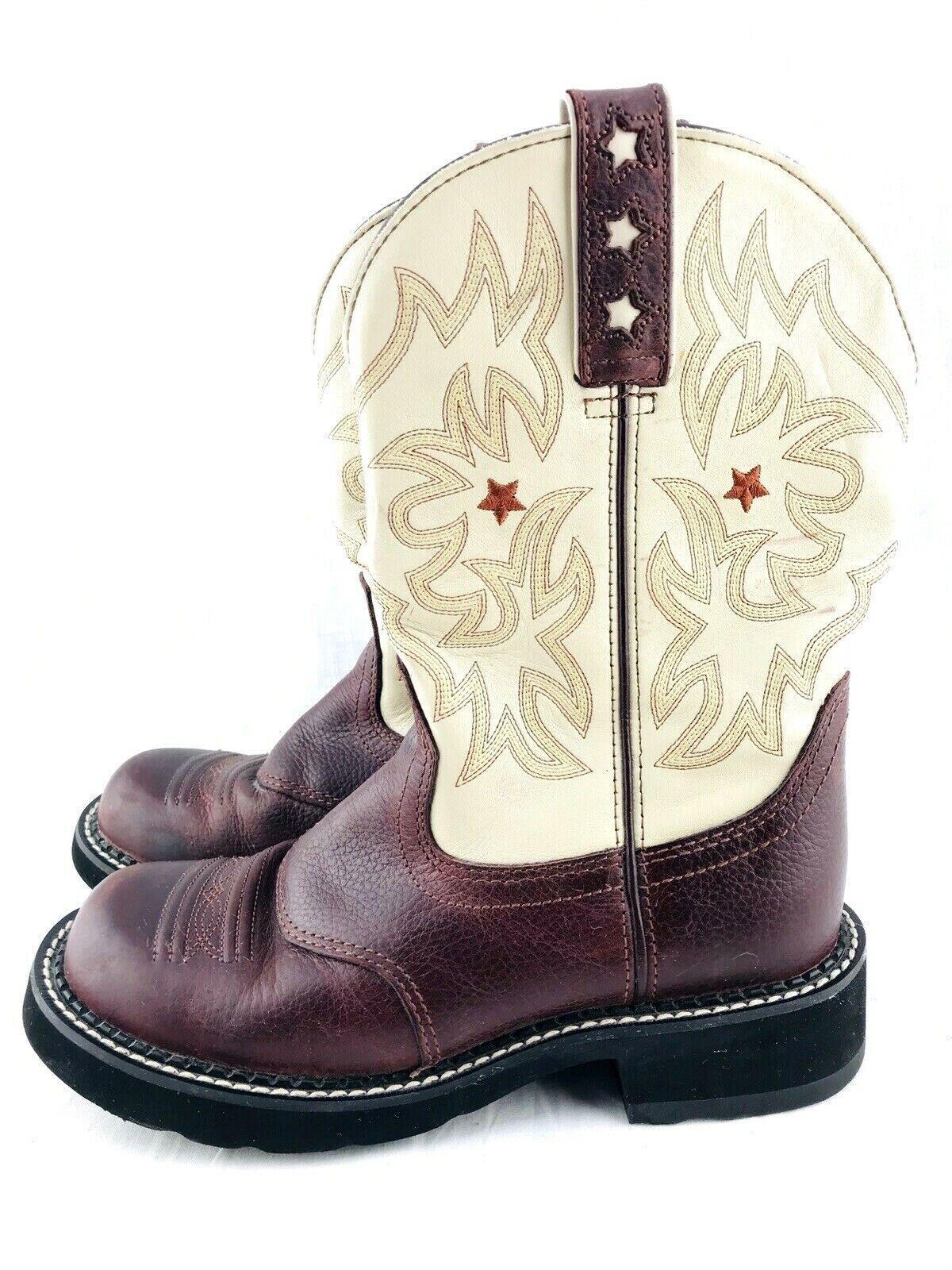 Ariat botas para mujer 7.5 B Equitación Rancho trabajo Rodeo 16703 vaquero Ecuestre