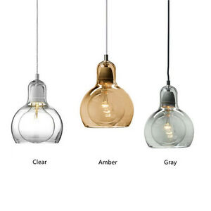 Image is loading Modern-Mega-Bulb-Pendant-Light-Fixtures-Glass-Pendant-  sc 1 st  eBay & Modern Mega Bulb Pendant Light Fixtures Glass Pendant Lamp Ceiling ...