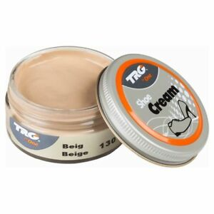 Image Is Loading Trg Shoe Cream Beige 50ml Jar For Smooth
