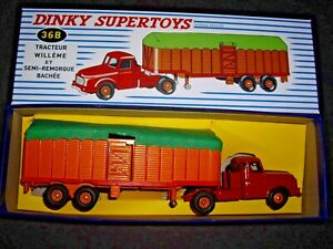 Dinky Toys 36b Willeme Semi-remorque Savoyarde Boite D'origine Avec Cales