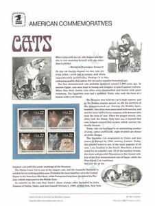 304-22c-Cats-Block-of-4-2372-75-USPS-Commemorative-Stamp-Panel