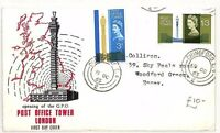 AO153 1965 GB POST OFFICE TOWER FDC Chingford CDS {samwells-covers}