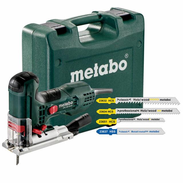 Sägeblattset im Koffer Metabo Stichsäge STE 100 Quick Set mit 21 tlg