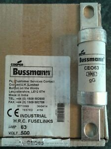 Cooper Bussmann CEO63 63 Amp 500 Volt Bolted Tag Fuse HRC Fuselink - <span itemprop=availableAtOrFrom>Wirral, United Kingdom</span> - Cooper Bussmann CEO63 63 Amp 500 Volt Bolted Tag Fuse HRC Fuselink - Wirral, United Kingdom