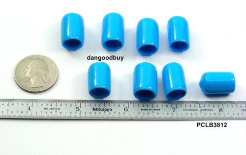 """Flexible Tips 24 Light Blue Vinyl Caps 3//8/"""" Inside Diameter x 1//2/"""" Height"""