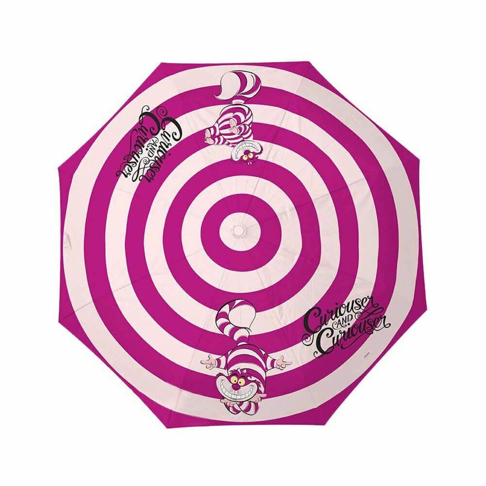 Alicia en el País De Las Maravillas Gato de Cheshire Compacto Paraguas