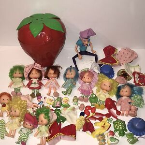 Vintage Strawberry Shortcake Lot 1980 S 17 Pvc Figures Dolls Pets Accessories Ebay