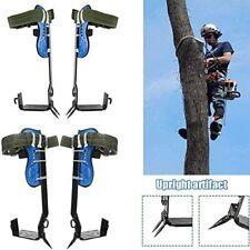Tree Climbing Spike Set Safety Belt W//Gear Adjustable Lanyard Rope Rescue Belt