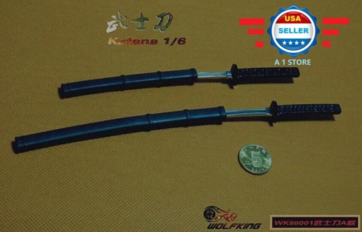 1 6 SCALE Japanese Swords Samurai Katana Set for 12  Figure Body Doll Hot Toys